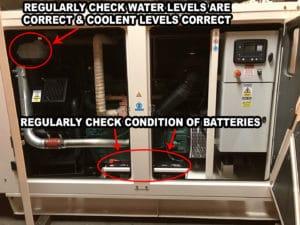 Generator battery check