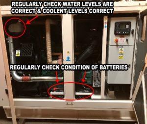 Generator Maintenance Daily Checks Interior