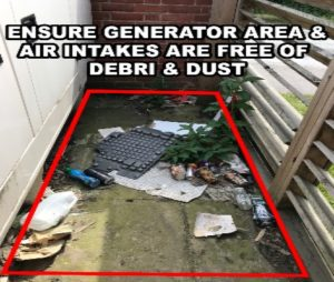 Generator Maintenance Daily Checks Exterior