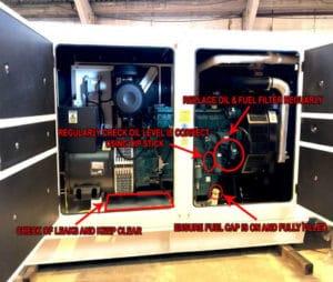 Generator oil checks