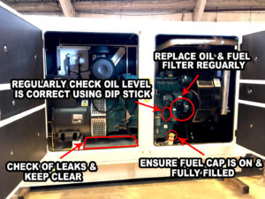 Generator oil checks hunting and surging