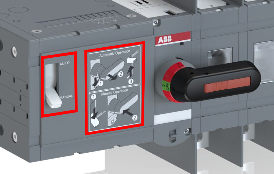 ABB motorised switch auto-manual