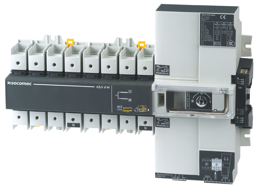 socomec atys motorised switch
