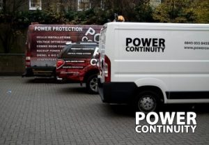 Three Power Continuity vehicles on site