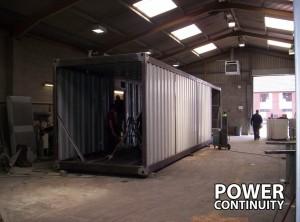 Diesel Generator Attenuation being built