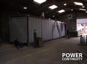 Diesel Generator being built inside factory