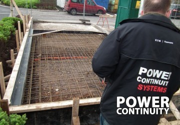 Building a concrete plinth