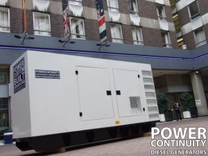 canopied diesel generator