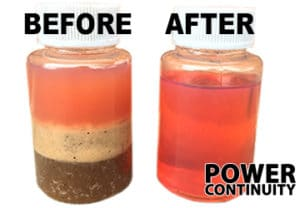 Fuel Polishing before and after