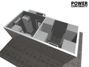 CAD drawing of DATA Centre container-2
