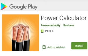 Google Store Power Calculator