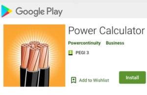 Google Store Power Calculator