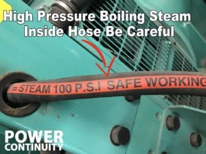 high pressure generator hose