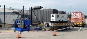 Fuel polishing diesel generator fuel tank